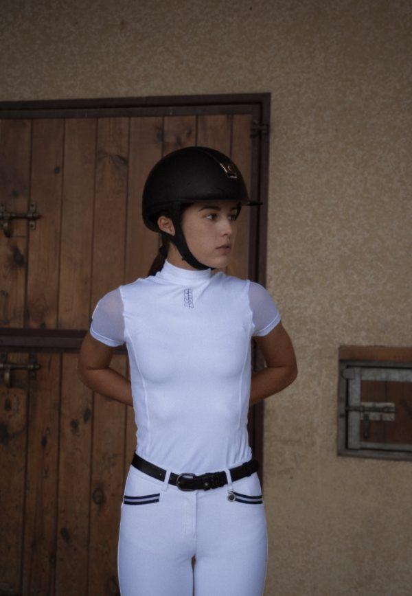 Polo 'Hybride' – Blanc