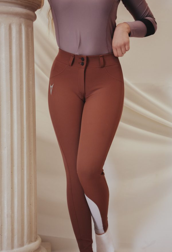 Pantalon 'Cosmopolite' – Rouille